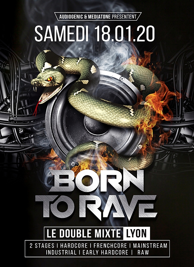 BORN TO RAVE - LE DOUBLE MIXTE – LYON  / 2 STAGES – Hard Music !